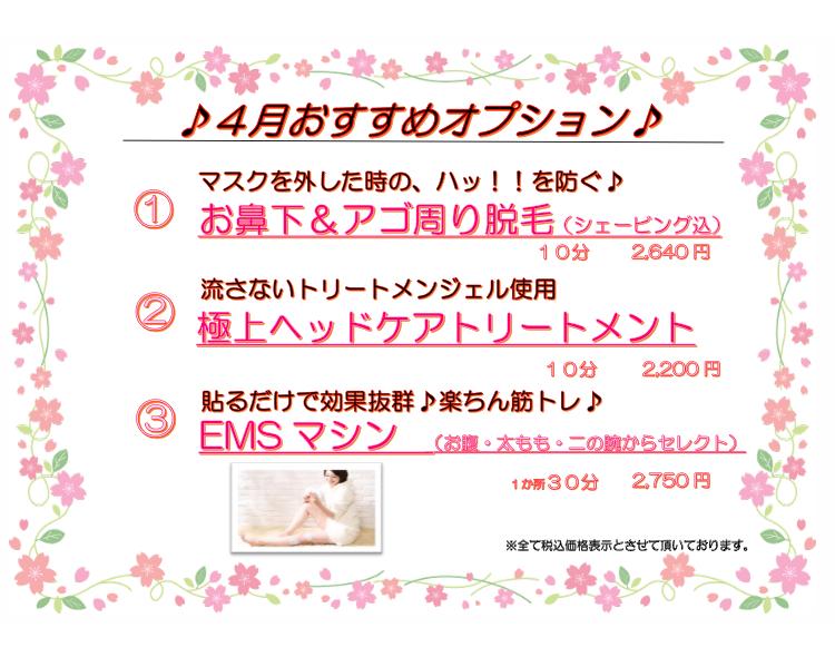 【モアーズマガジン vol.13】4月限定オプション🌸